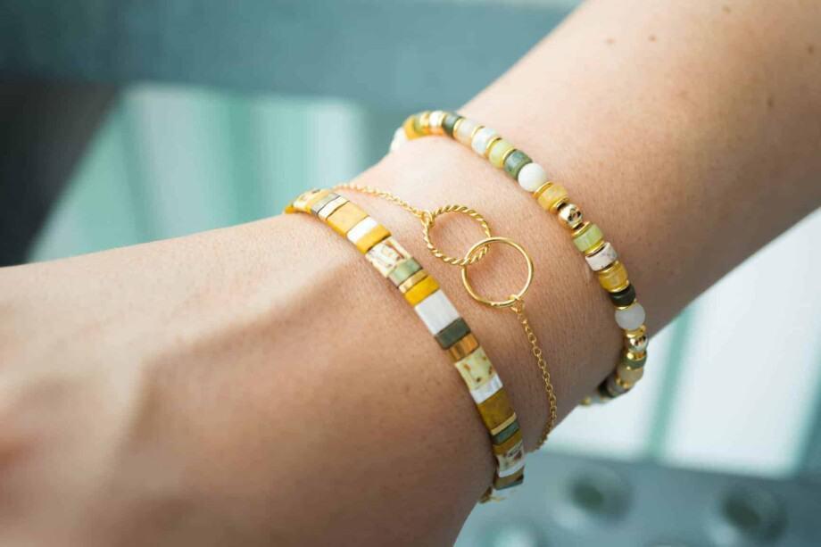 Handgemaakte natuurstenen armband sieraad