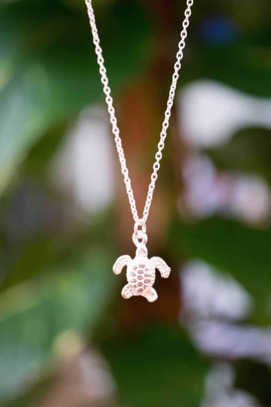 Sterling zilveren ketting met hanger 'Schildpad'