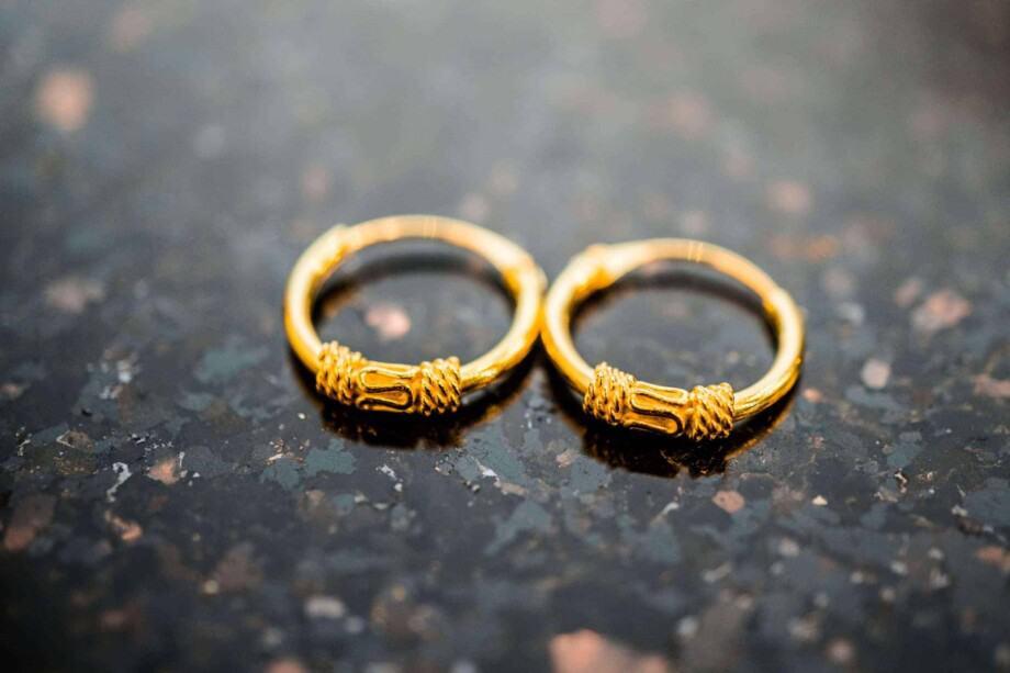 Gouden oorbellen 'Bali Snake'