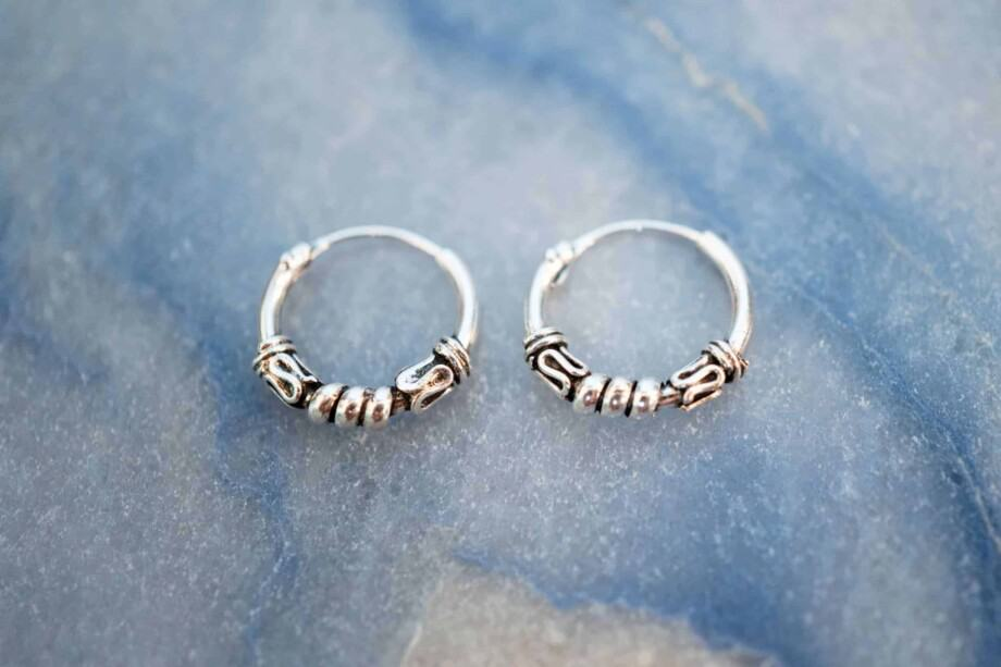 'Bali Twirl' Sterling zilveren oorbellen 12 mm