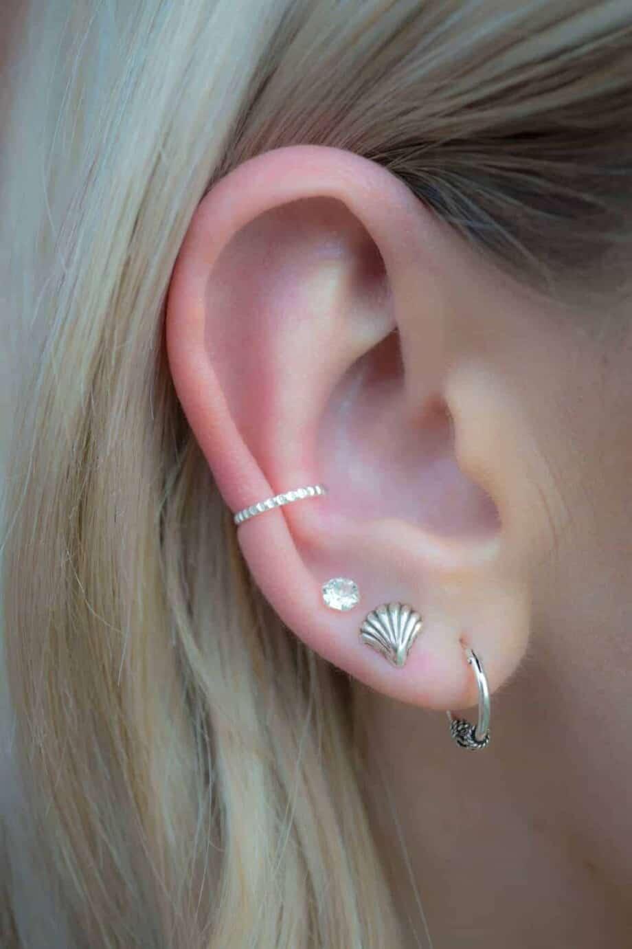 Minimalist earcuff Sterling zilver