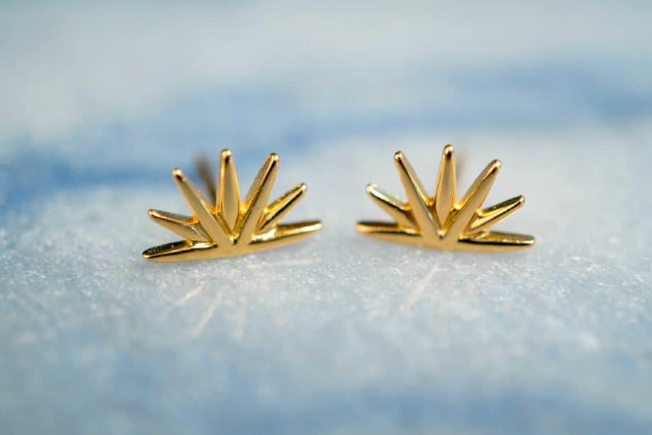 Gouden oorbellen 'Sunrise' van Goud Vermeil