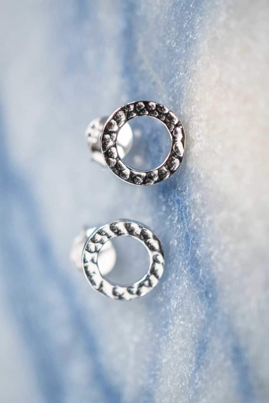 Sterling Zilveren 'Open Circle' oorbellen