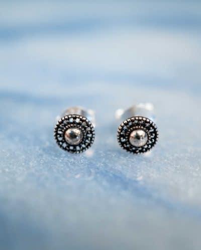 Zilveren 'Shield' oorbellen
