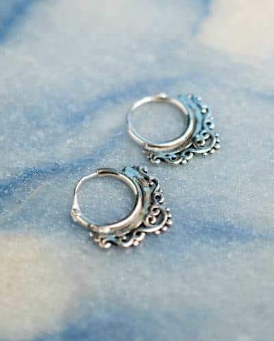 Zilveren 'Chandelier' oorbellen
