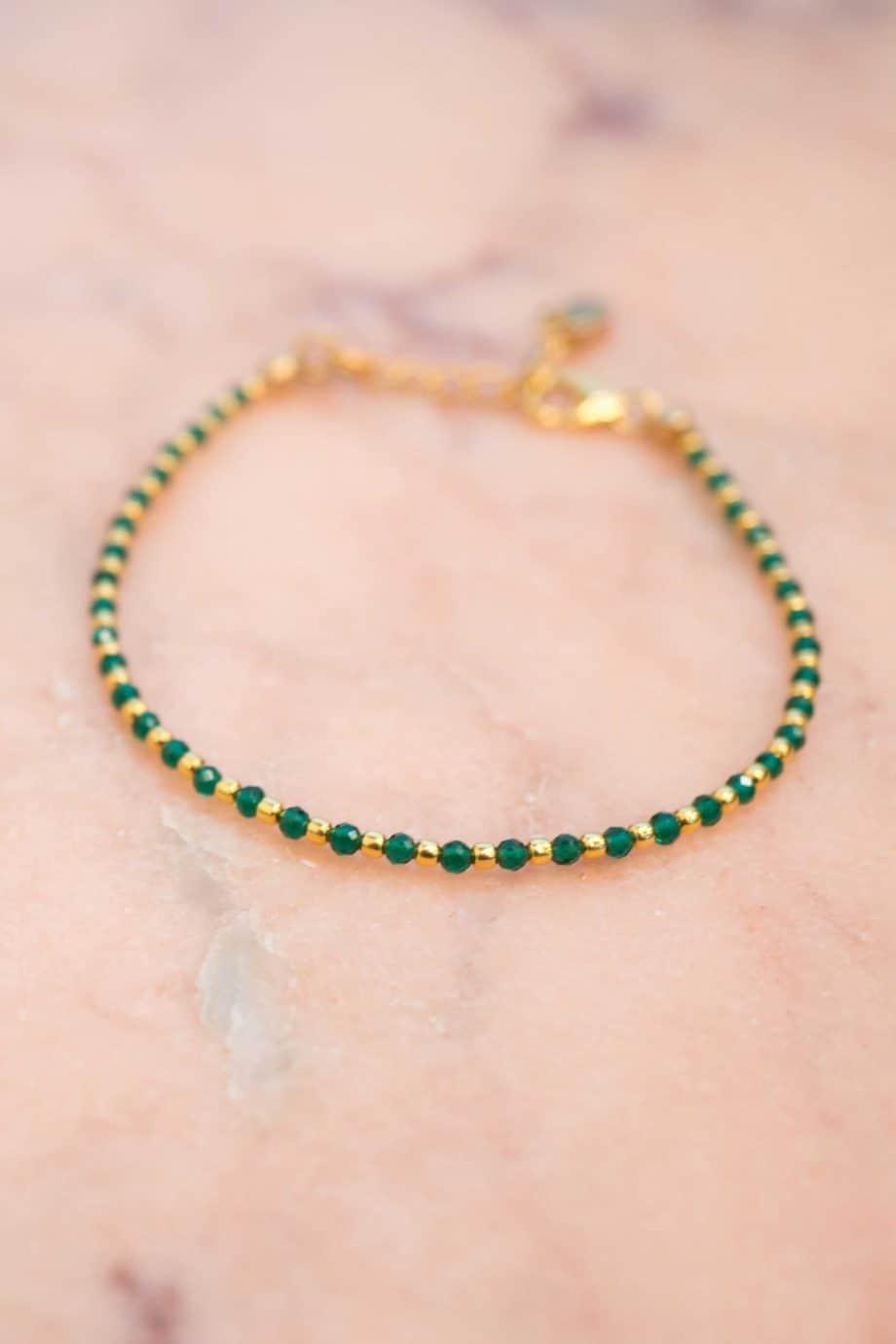 Handgemaakte Gouden armband Spinel edelsteen