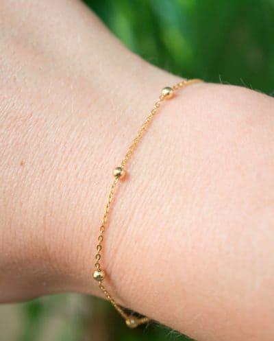 Gouden Armband 'Satellite' van Goud Vermeil