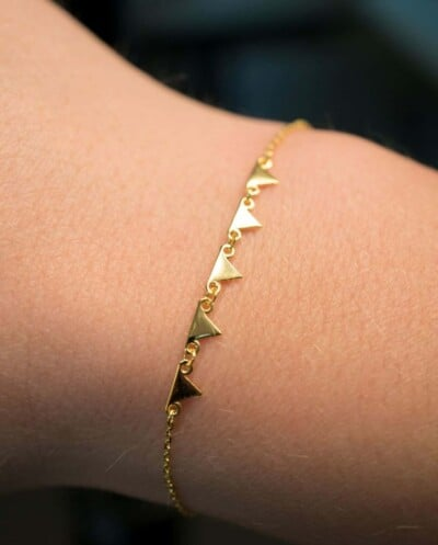 Gouden armbandje 'Pyramid' van Goud op Zilver