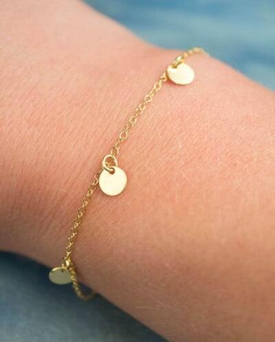 Gouden armbandje 'Coins' van Goud op Zilver