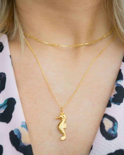Gouden ketting Square box