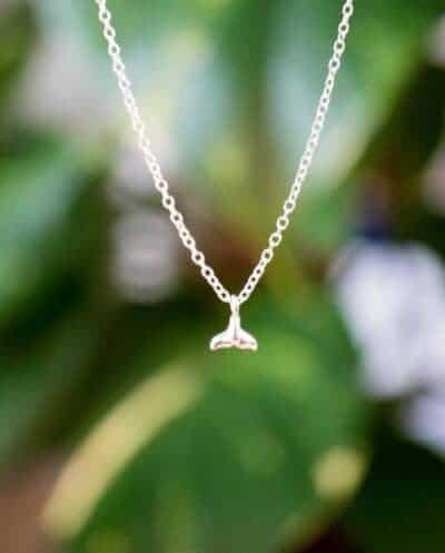 Sterling Zilveren ketting met hanger 'Walvis-staart'