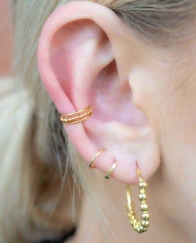 Gouden oorbellen 'Barcelona Hoops' van Goud op Zilver