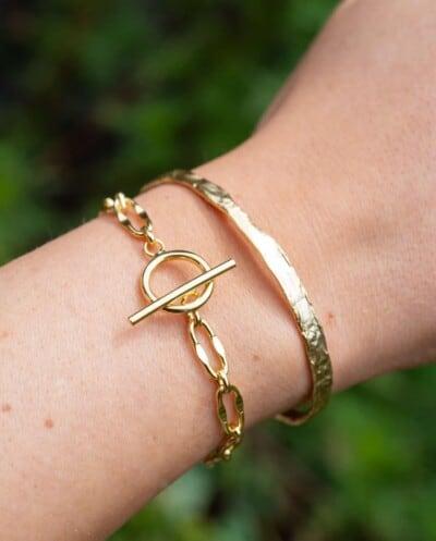 Gouden armband 'Chunky Bracelet' van Goud op Zilver