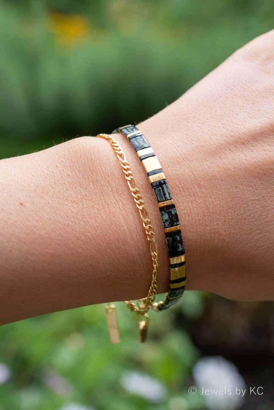 Gouden armband 'Figaro chain'