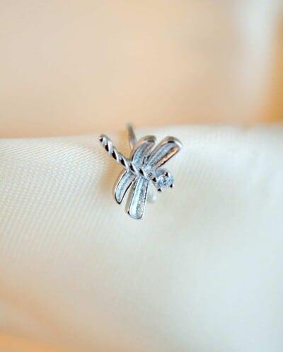 Zilveren ear cuff 'Dragonfly' van Sterling Zilver
