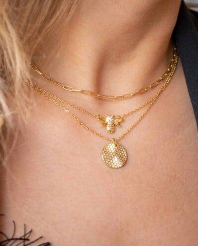 Gouden ketting 'Long Box Chain' van Goud op Zilver