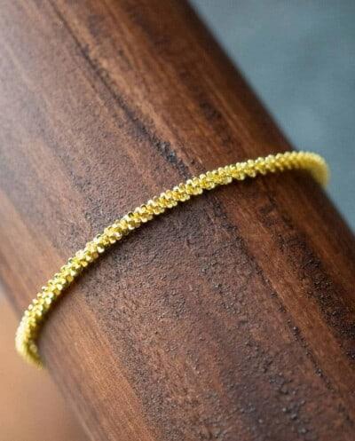 Gouden armband 'Glamour' van Goud op Zilver