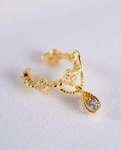 Gouden ear cuff 'Vintage' van Goud op Zilver