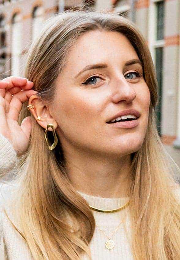 Gouden oorbellen Vintage Style 'O' van Goud op Zilver