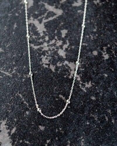 Zilveren Ketting 'Satellite' van Sterling Zilver