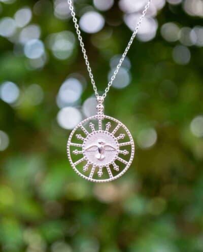 Zilveren Ketting met hanger 'Mockingbird' van Sterling Zilver