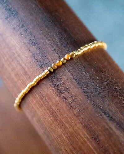 Handgemaakte Miyuki Delica Armband 'Golden tiger'