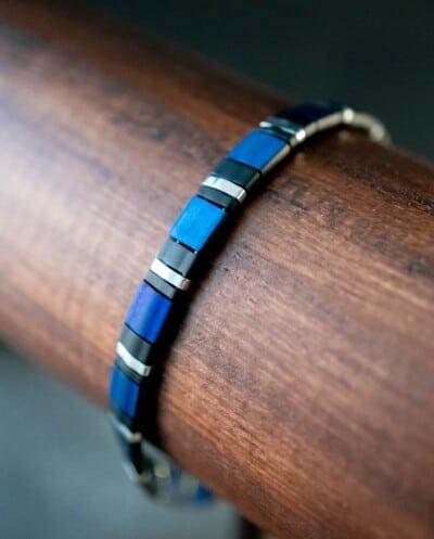 Handgemaakte Miyuki Tila armband 'Le Papillon'