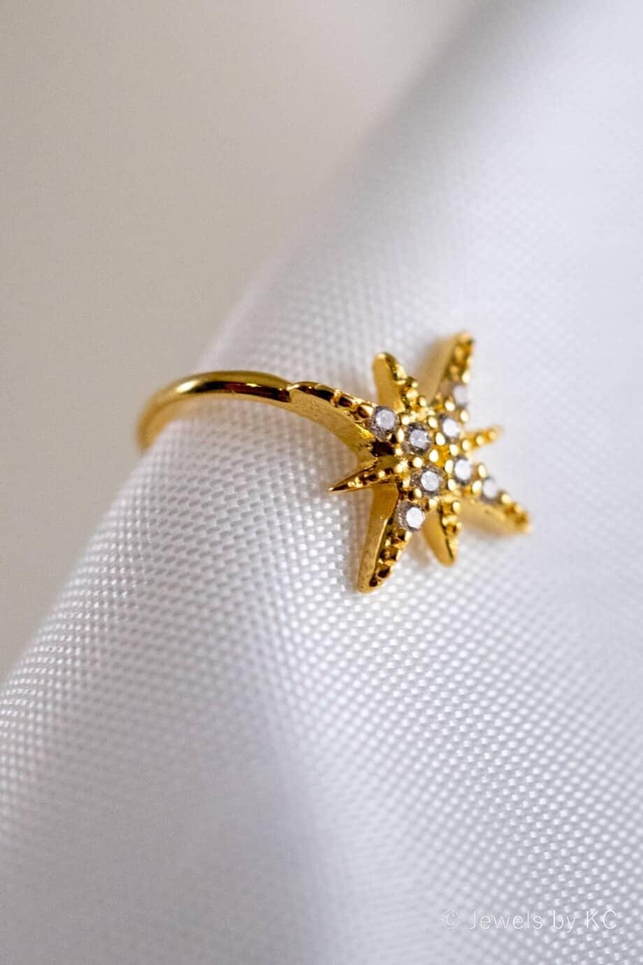 Gouden-Ear cuff-Twinkle-Goud op Zilver