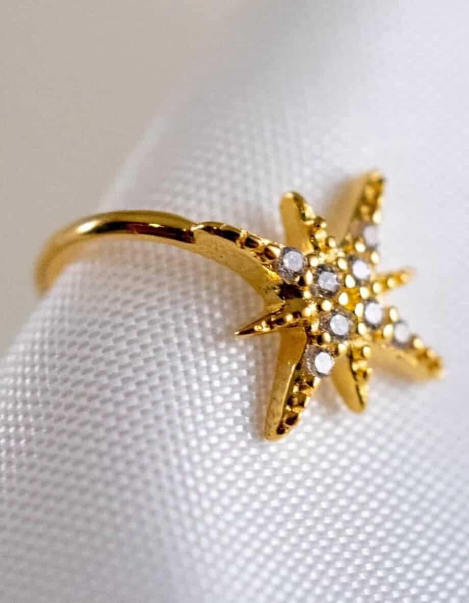 Gouden-Ear cuff-Twinkle-Goud-op Zilver