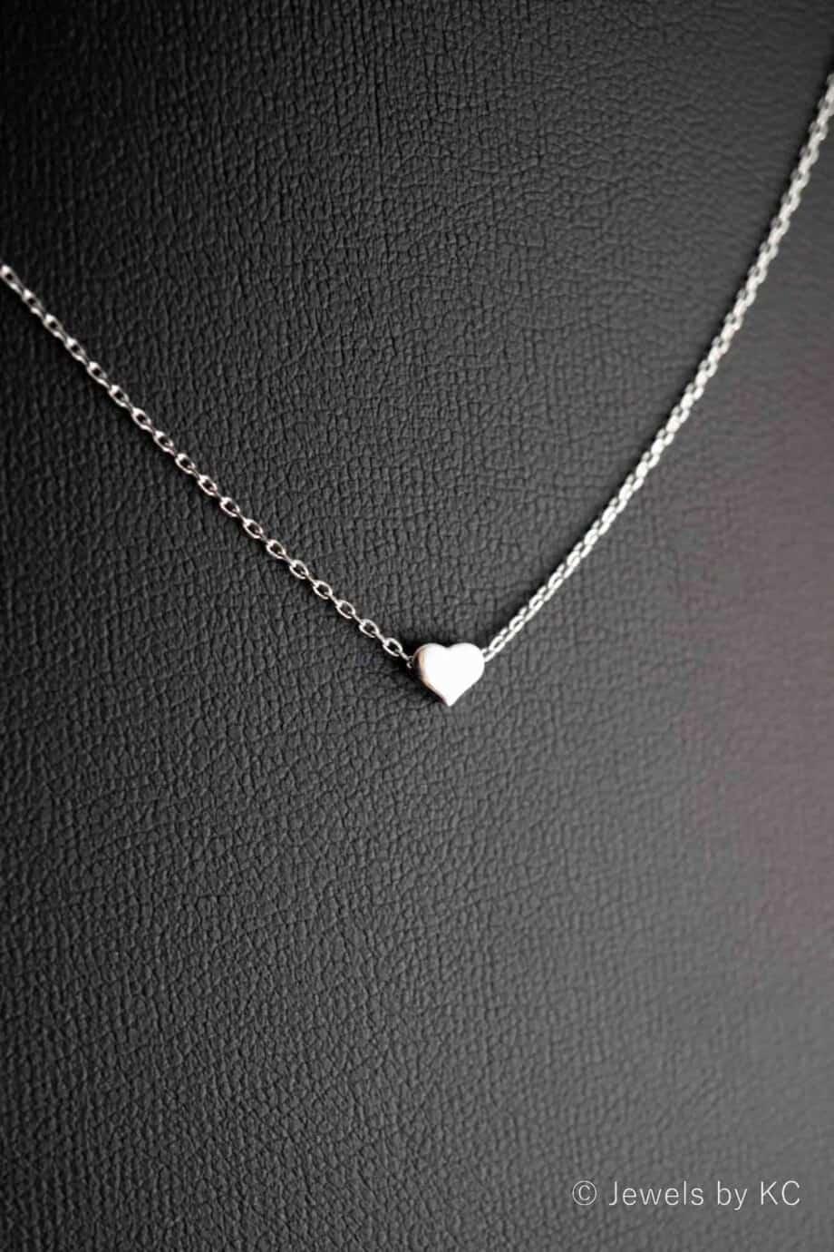 Sterling-Zilveren-ketting-hartje-hanger