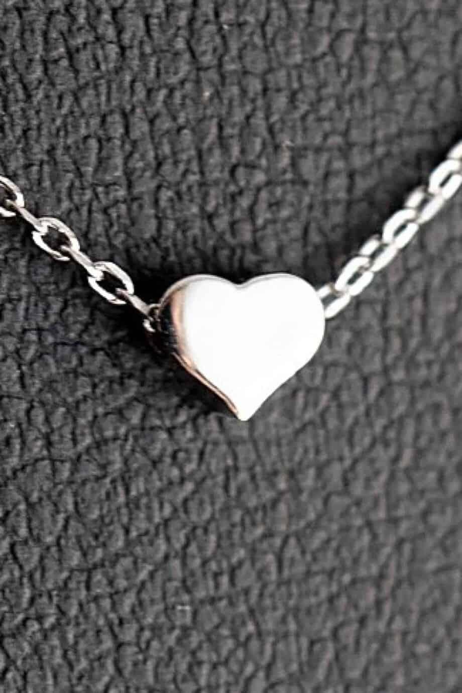 Zilveren ketting met hanger 'Hartje' van Sterling Zilver