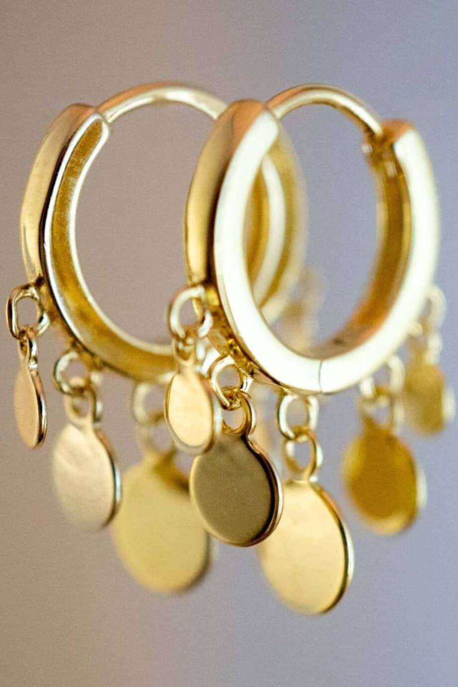 Gouden-Beads-Oorbellen-van-Goud-op-Zilver