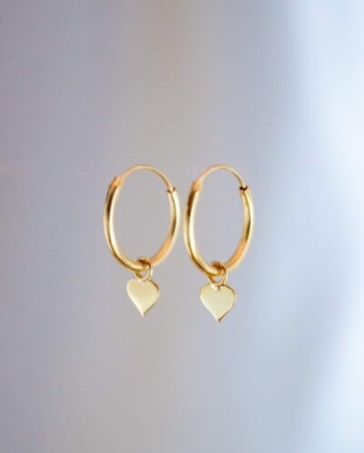 Gouden-Oorbellen-Hartjes-van-Goud-op-Zilver