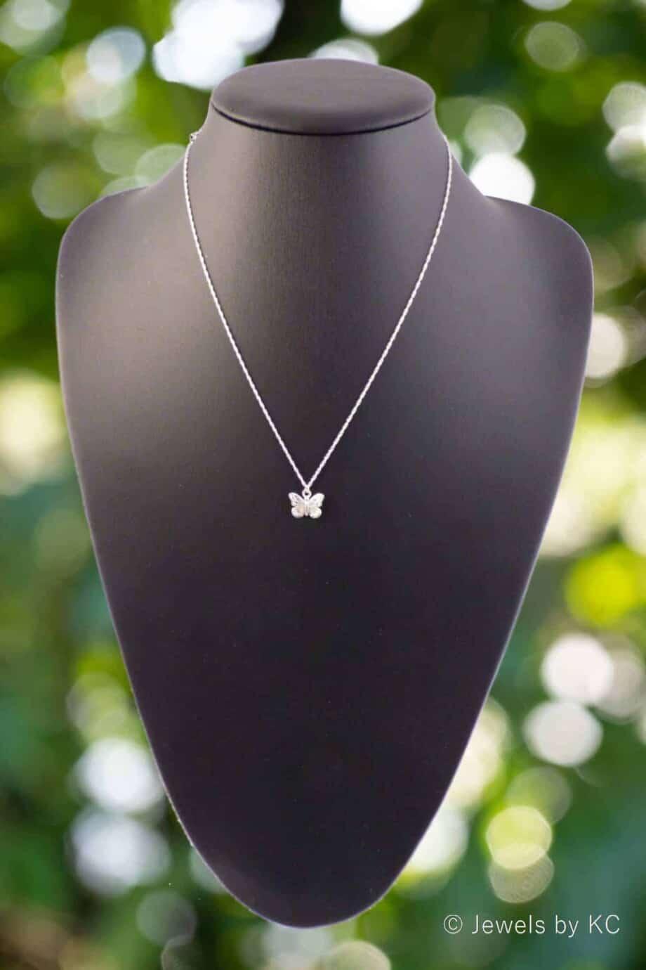 Zilveren ketting met 'Vlinder' hanger van Sterling Zilver
