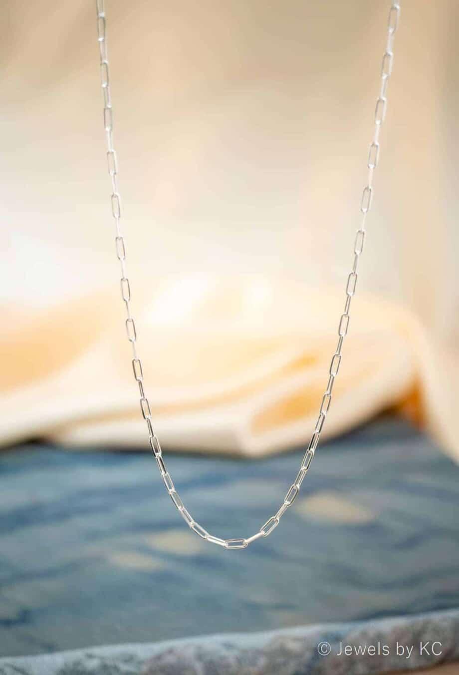 Zilveren Ketting 'Long box Chain' van Sterling Zilver