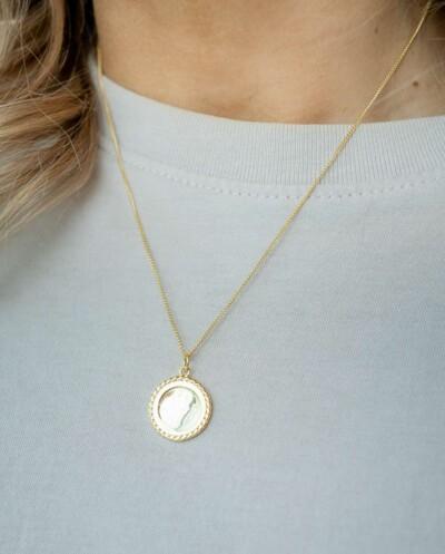 Gouden ketting 'Golden Mirror' van Goud op zilver
