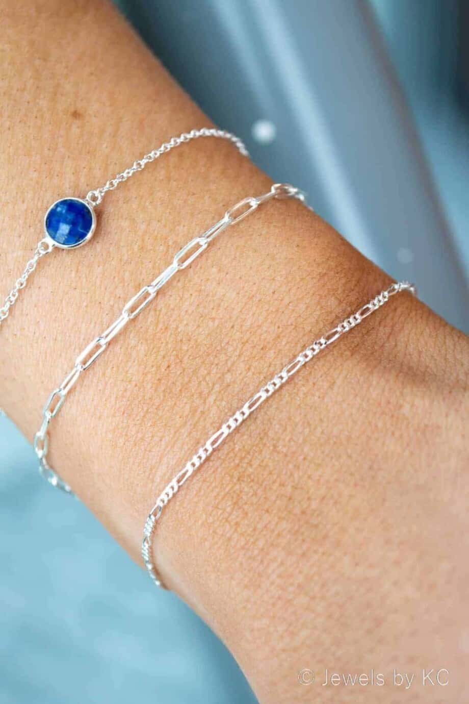 Zilveren armband 'Figaro chain' van 925 Sterling Zilver