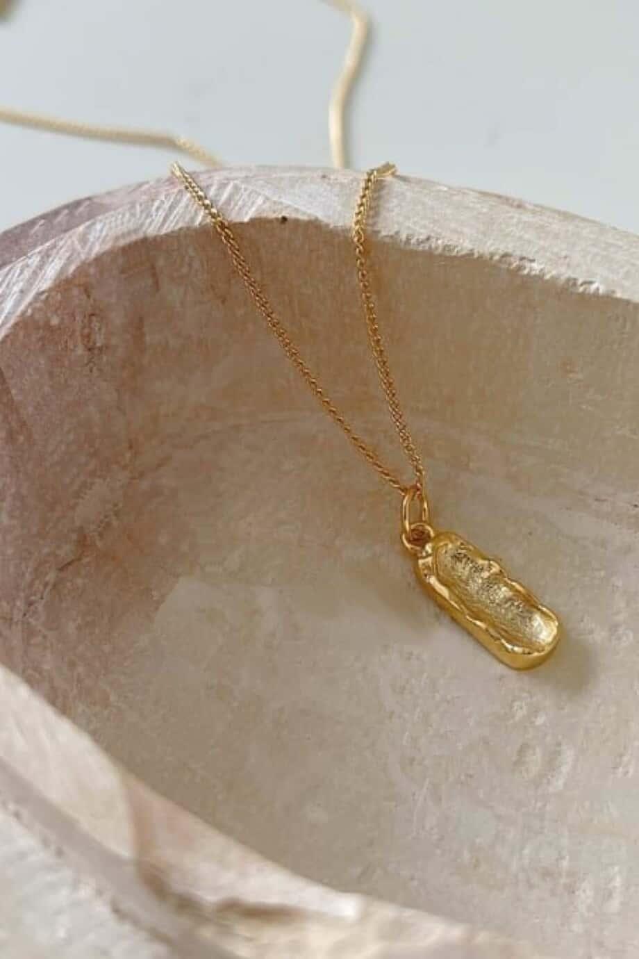 Goldfilled Gouden ketting 'Vintage Nugget' van Goud op Zilver