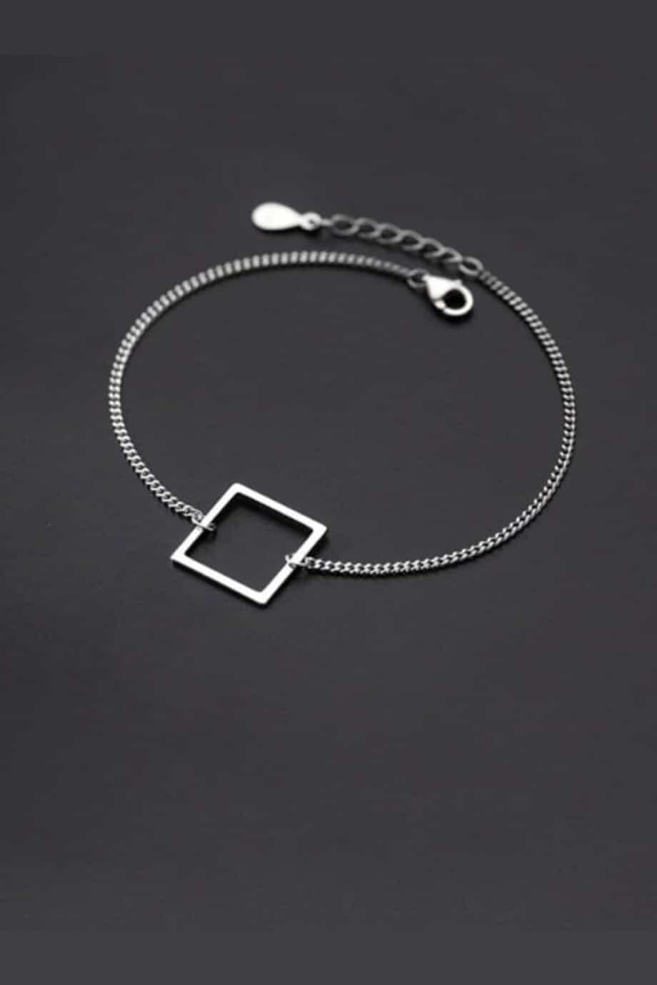 Zilveren 'Square' armband van Sterling Zilver