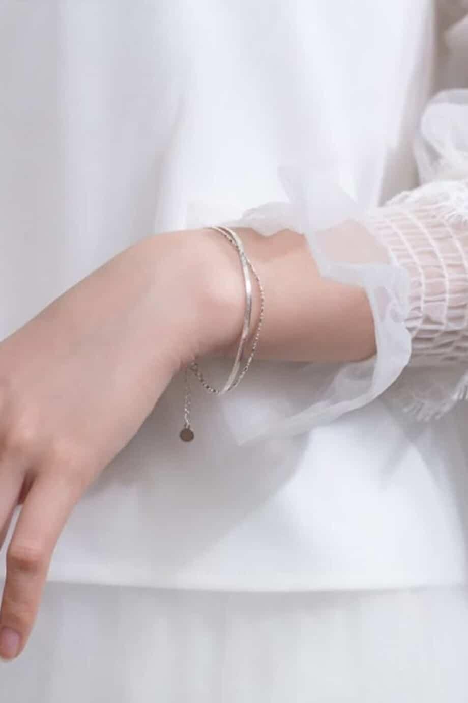 Zilveren armband 'Snake vintage' van Sterling Zilver