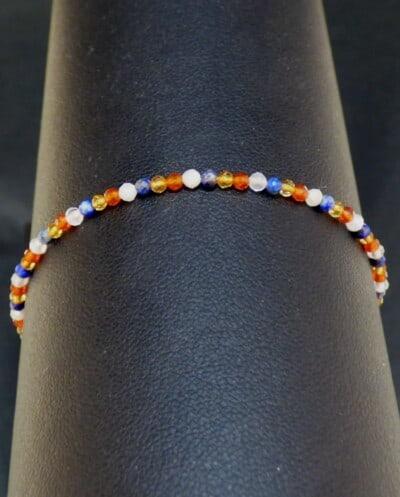 Gouden edelsteen armband Dutch Orange van Goud op Zilver