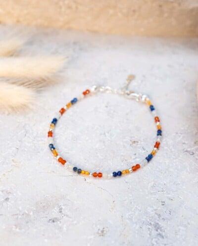 Zilveren edelsteen armband 'Dutch Orange' van Sterling Zilver