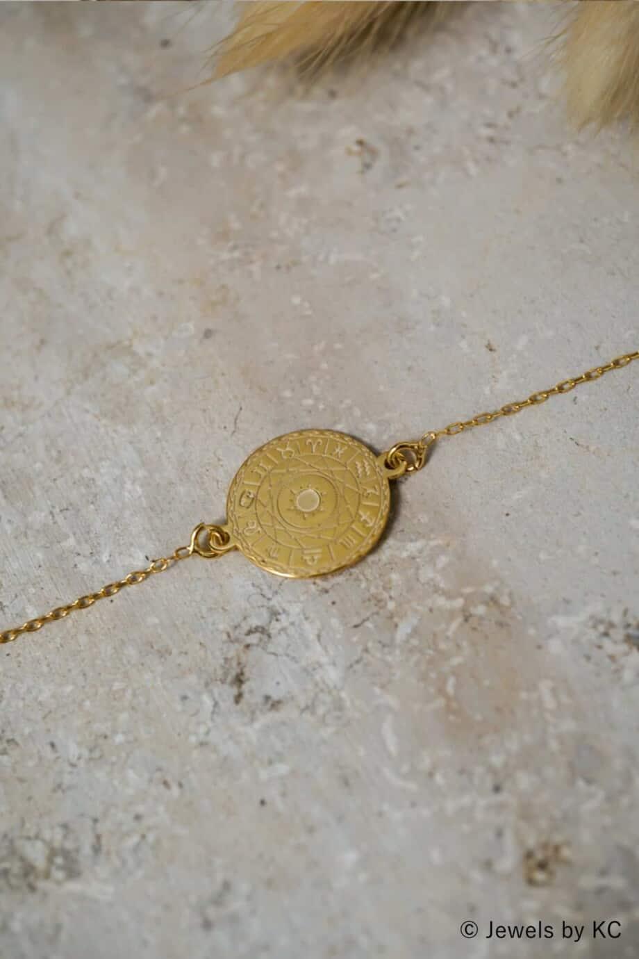 Gouden Horoscoop armband van Goud op Zilver