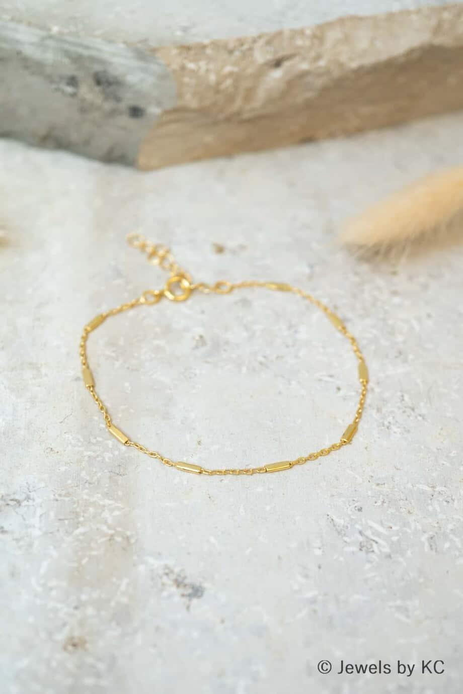 Gouden armband 'Gold bars' van Goud op Zilver