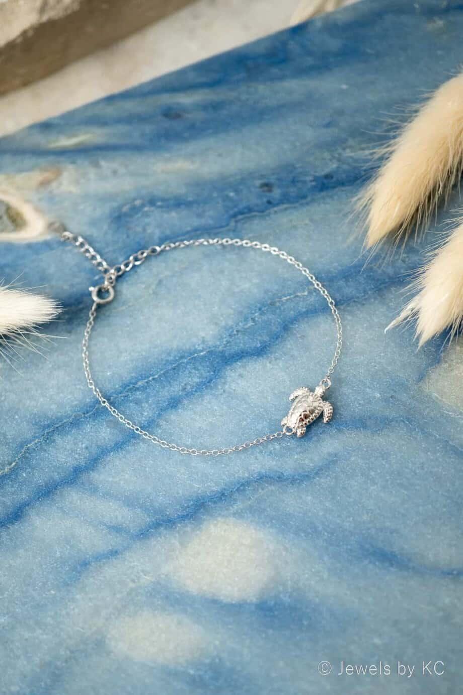 Zilveren Turtle Schildpad armband van Sterling Zilver