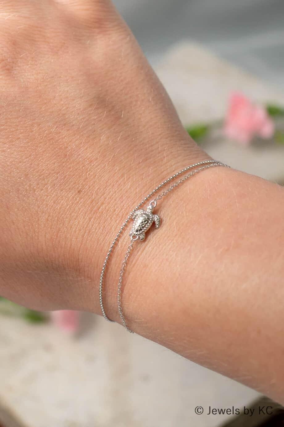 Dun Zilveren armbandje Diamantadas van Sterling Zilver