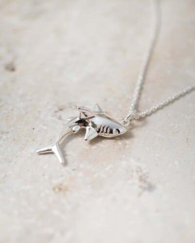 Zilveren Shark ketting met haai van Sterling Zilver