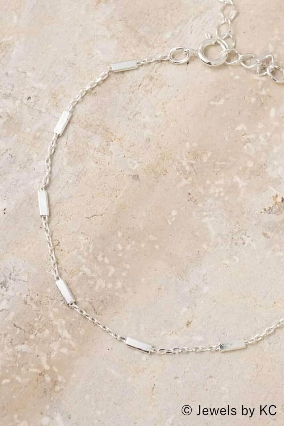 Fijne Zilveren armband 'Silver bars' van Sterling Zilver