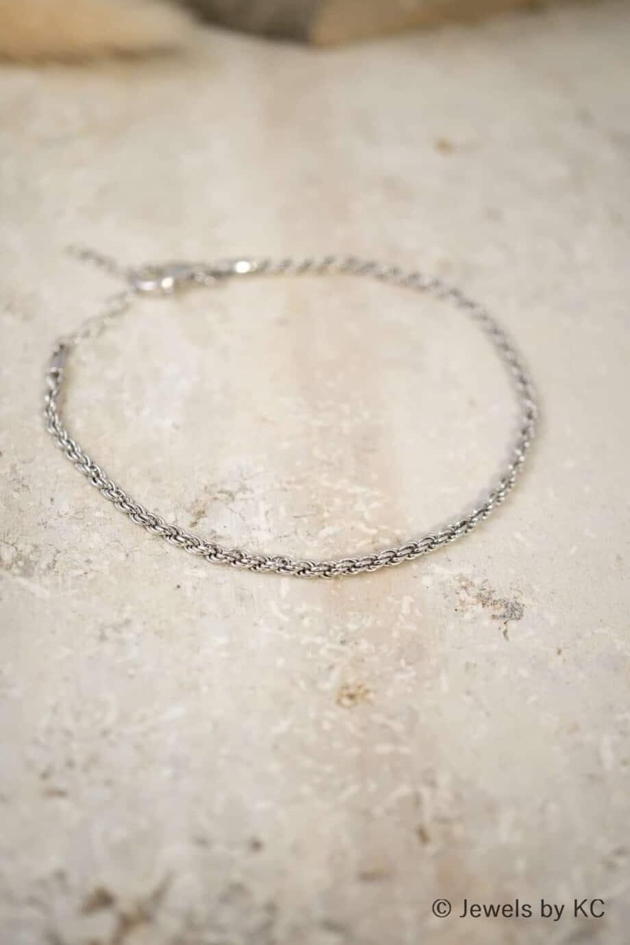 Fijne Zilveren armband 'Classic Cord' van Sterling Zilver