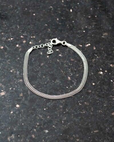 Moderne Zilveren armband 'Modern Braid' van Sterling Zilver